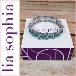 NEW Lia Sophia Sparkler Stretch Bracelet - Rain